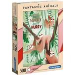 Clementoni Puzzle 500 Teile Fantastic Animals Faultiere
