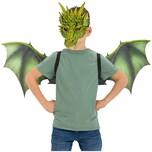 Drachen-Set Flügel Maske 2-Tlg.
