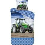 Good Morning Wende Kinderbettwäsche Traktor 135x200 80x80cm