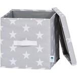 STORE IT! Ordnungsbox mit Deckel Sterne hellgrau