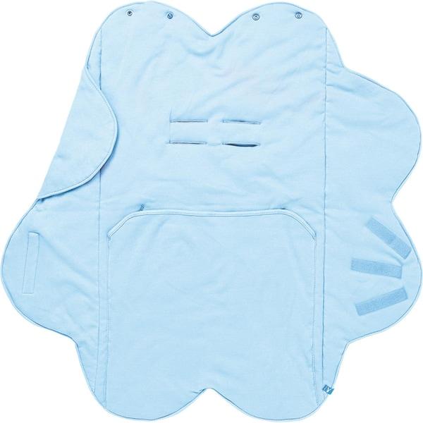 Wallaboo Wrapper Babydecke Fleur blau