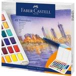Faber-Castell Künstler-Aquarellfarbkasten 48 Farben inkl. Pinsel
