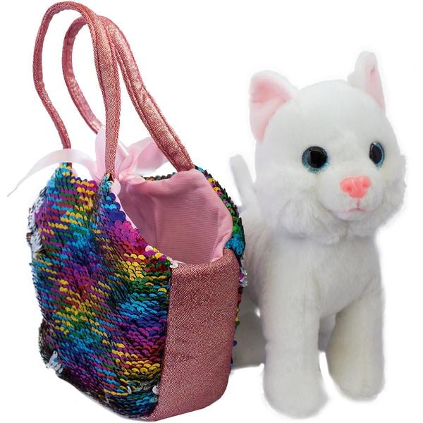 Joy Toy Catty Plüsch im Magischen Pailletentäschchen 13X25X20 cm