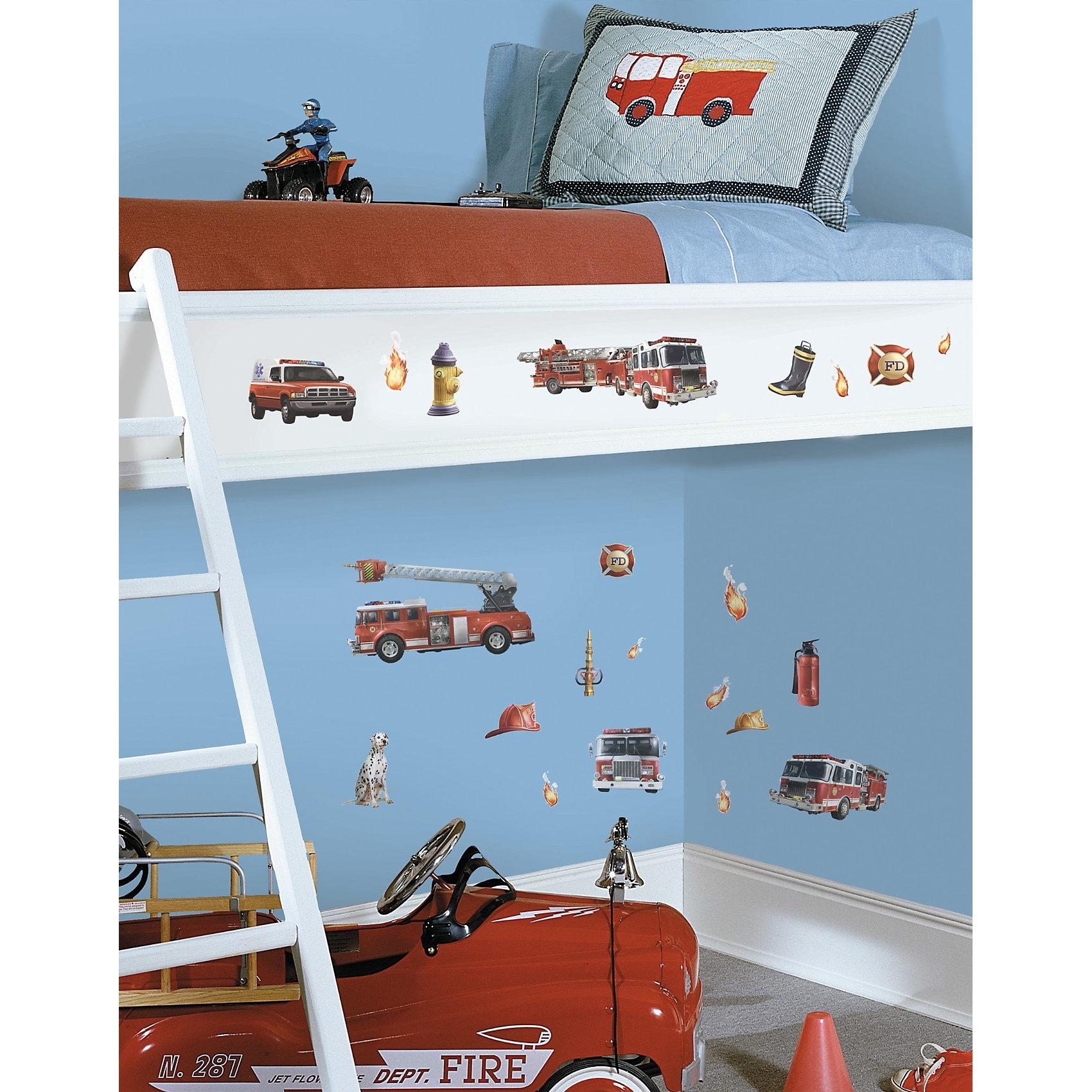 RoomMates Wandsticker Feuerwehr 22-tlg.