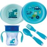 Chicco Geschenkset Mahlzeit light blue 4-tlg