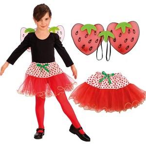 Erdbeere-Set Flügel Rock 2-Tlg.