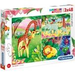 Clementoni Puzzle 3x48 Teile Jungle Friends