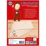 Pebaro 4 Platten Birkensperrholz plus Laubsägeblätter und Vorlagenmotiven