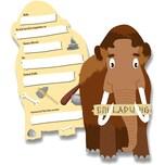 dh konzept Einladungskarten Steinzeit Mammut 6 Stück