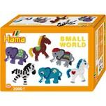 Hama Perlen 3504 Kleine Welt Elefant und Pony 2.000 midi-Perlen und Zubehör