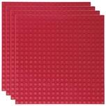 Basisplatte 20x20 Dunkel Rot Viererpack