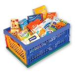 Chr. Tanner mini Klapp Box gefüllt als Einkaufskorb