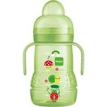 Mam Trinklernflasche Trainer PP 220 ml Silikonschnabel grün