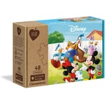 Clementoni Puzzle 3 x 48 Teile Play for Future - Disney Mickey Mouse