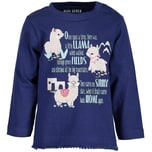 Blue Seven Baby Langarmshirt für Mädchen Lama