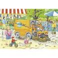 Ravensburger 2er Set Puzzle je 12 Teile 26x18 cm Müllabfuhr Kehrmaschine