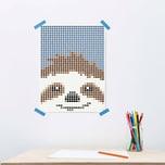 dot on art Kids - faultier 30 x 40 cm