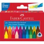 Faber-Castell Dreikant-Wachsmalkreiden TRIANGULAR 24 Farben