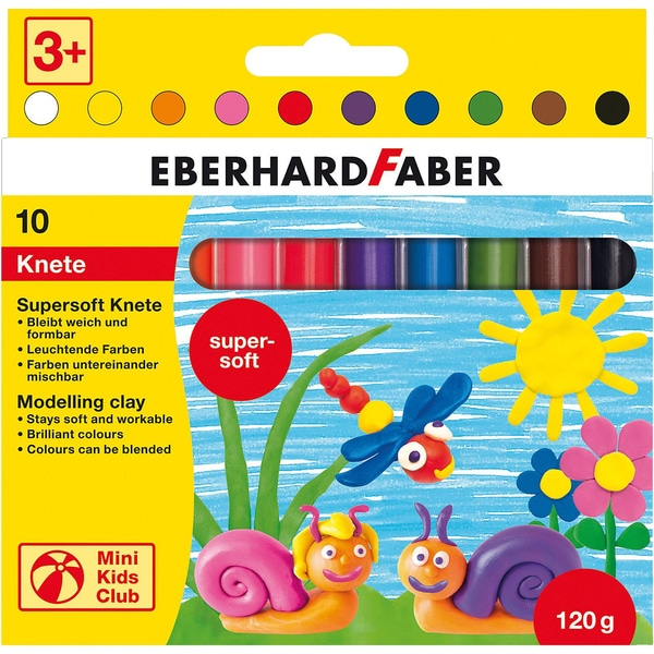 Eberhard Faber Mini Kids Supersoft-Knete 10 Stangen