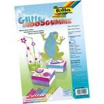 Folia Glitter-Moosgummi selbstklebend Pastell 5 Bogen in 5 Farben