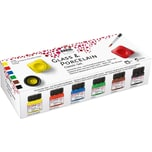 C. KREUL Porzellanmalfarbe Classic 6 x 20 ml inkl. Pinsel