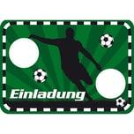 Lutz Mauder Verlag Einladungskarten Fußball Stanzoptik 8 Stück inkl. Umschläge