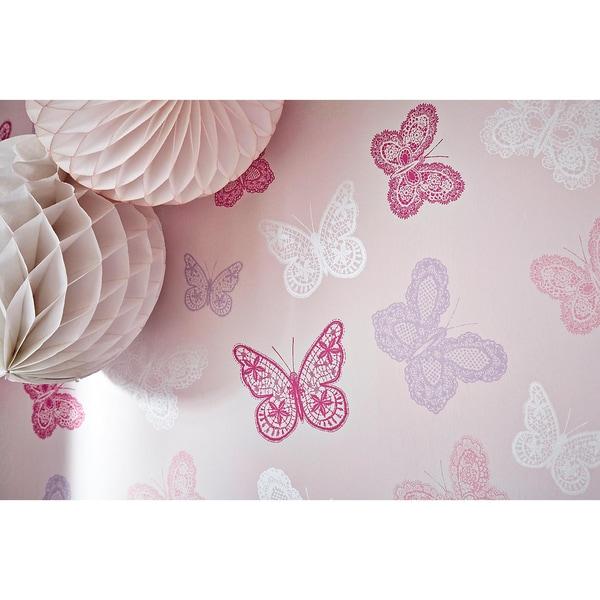 Decofun Tapete Schmetterlinge 10 m x 53 cm