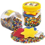 Hama Perlen 2052 Dose gelb mit 4.000 midi-Perlen und Zubehör
