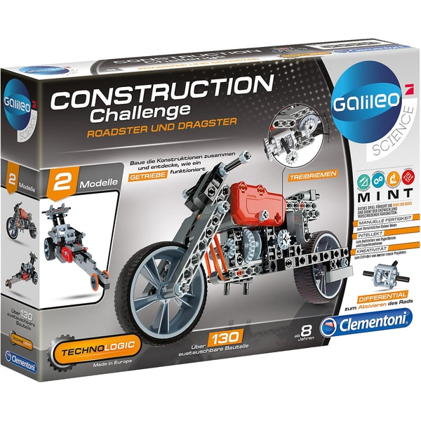 Clementoni Galileo Construction Challenge Roadster und Dragster