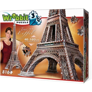 Wrebbit Wrebbit 3D Puzzle 816 Teile Eiffelturm