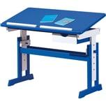 ABC Schreibtisch TITJE höhenverstellbar blauweiß