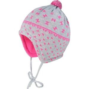 MaxiMo Baby Bommelmütze zum Binden für Mädchen