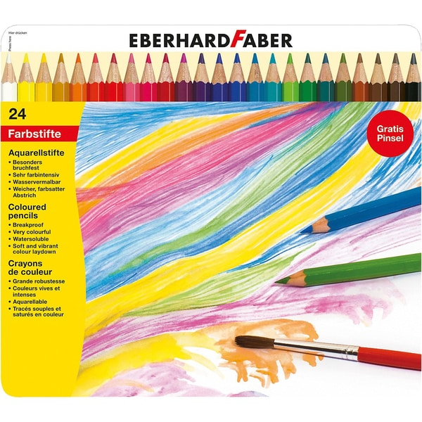 Eberhard Faber AquarellBuntstifte im Etui 24 Farben