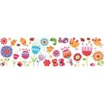 Crearreda Wand und Fenster Sticker Birds Flowers L
