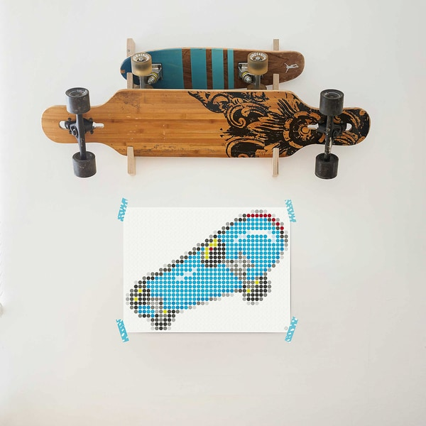 dot on art teen skate 30 x 40 cm