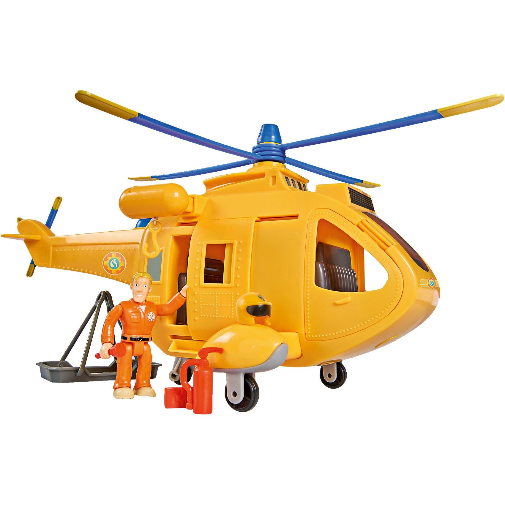 Simba Feuerwehrmann Sam Hubschrauber Wallaby 2 mit Figur