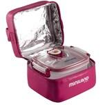 Miniland Vakuum-Behälter mit Isoliertasche 2 Behälter pink