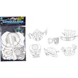 Folia Kindermasken Weltraum 6 Stück