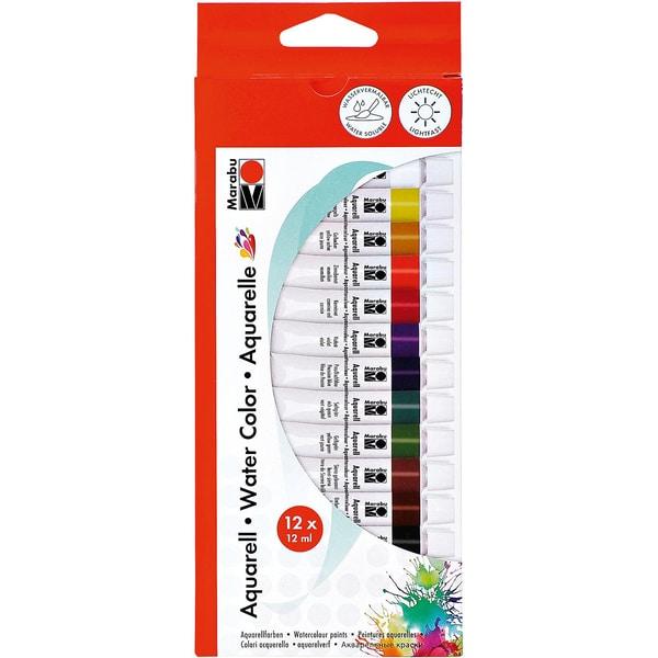 Marabu Aquarellfarben-Set 12 x 12 ml