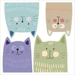 Crearreda Wand Sticker Multicolour Katzen M