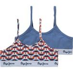 Pepe Jeans Bustier Texto Doppelpack für Mädchen