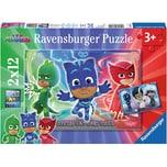 Ravensburger 2er Set Puzzle je 12 Teile 26x18 cm PJ Masks Gut gegen Böse