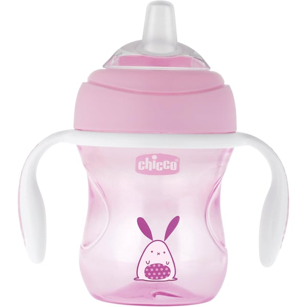 Chicco Trinklernflasche Transition pink 200 ml