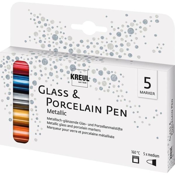 C. Kreul Glass Porcelain Pen Metallic Deckend 5 Stifte