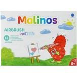 Amewi Malinos Airbrush Pastell 12 Stifte 8 Schablonen