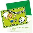 Lutz Mauder Verlag Einladungskarten Fußballer Fritz Flanke 8 Stück inkl. Umschläge