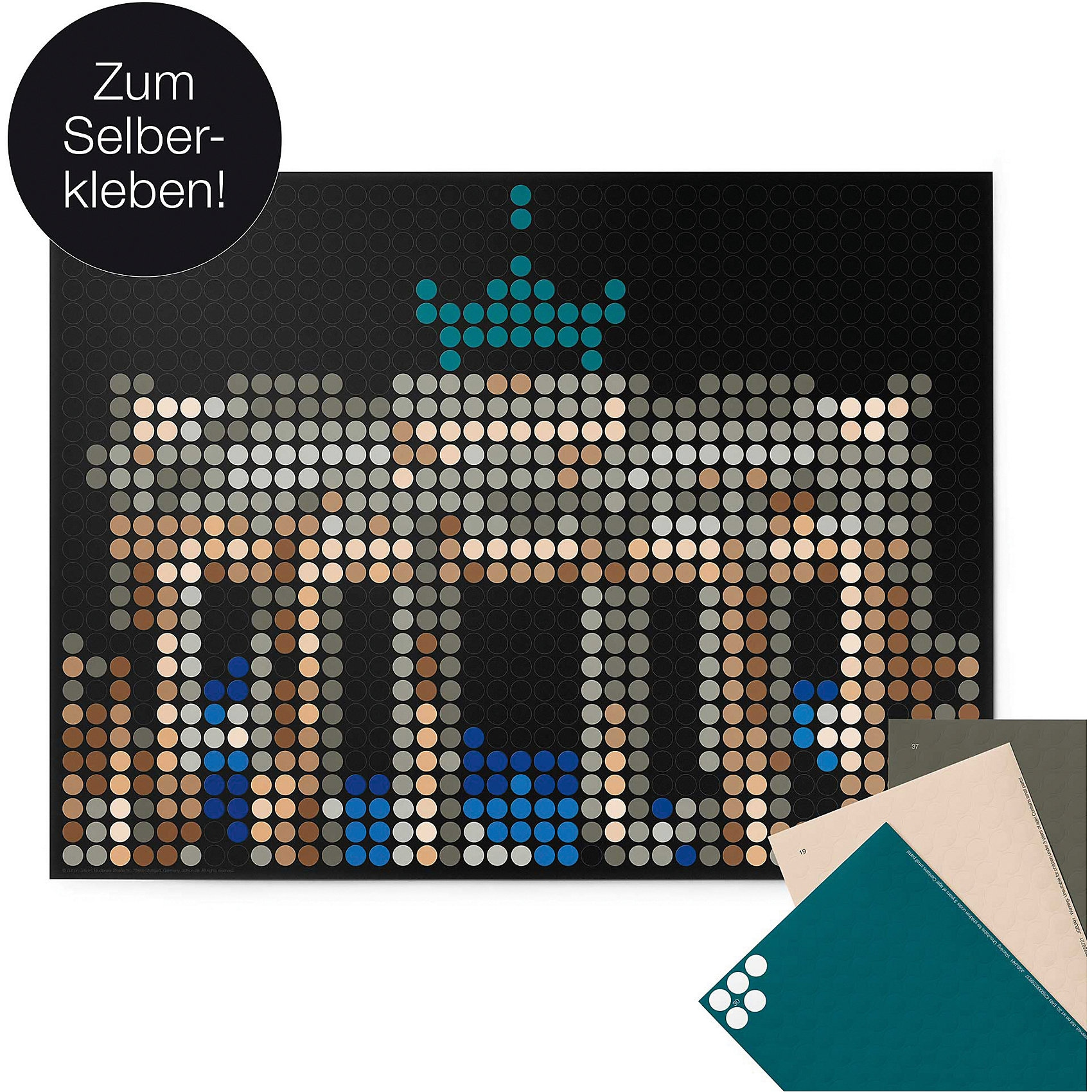 dot on art - brandenburg gate 30 x 40 cm