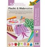 Folia Flecht- Webmotive A4 16 Blatt