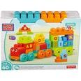 Mattel Mega Bloks ABC Lernzug 60 Teile Steck-Bausteine Bauklötze Lernspielzeug