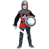Funny Fashion Kostüm schwarzroter Ritter Anselm 2-tlg.
